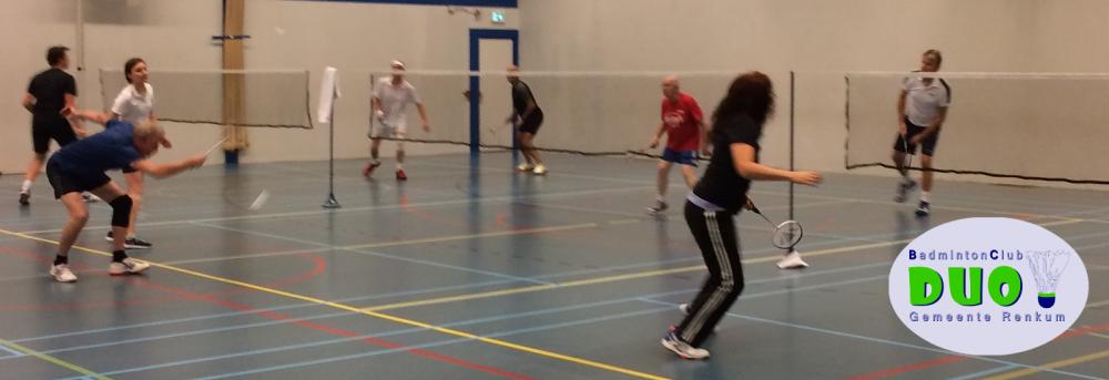 BC DUO – de recreatieve badmintonclub van Oosterbeek, Doorwerth, Renkum en omstreken!